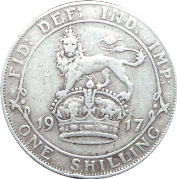 1911 to 1936 Shilling George V Grades From Poor to VF